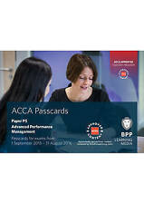 ACCA P5 Advanced Performance Management: Passcards, BPP Learning Media, Good, Sp