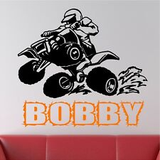 Personalized 4 Wheeler Wall Decal Removable Wall Lettering