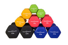 Fitness Republic Neoprene Dumbbell Pairs (5 Dumbbell Set) 3lb,5lb,8lb,10lb &12lb