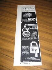 1973 Print Ad Master Lock Padlocks, Gun Safety Locks Milwaukee,WI