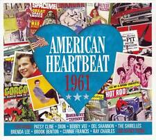 AMERICAN HEARTBEAT 1961  (NEW SEALED 2CD) Elvis Presley-Bobby Vee-Brenda Lee