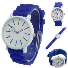 Fashion Women Geneva Silicone Rubber Jelly Gel Quartz Casual Sports Wrist Watch