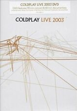 COLDPLAY LIVE 2003 * NEW SEALED DVD * FEATURES 90 MINUTE CONCERT & 40 MIN DOCO