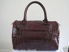 New RINKEL Burgundy Crocodile Doctor Bag Shoulder Bag Handbag