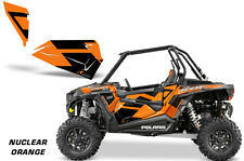 AMR Racing Graphic Wrap Kit Polaris RZR 1000 UTV  Door Inserts 2014 NUCLEAR ORNG