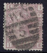 1878 GB SG141 QV 2½d ROSY MAUVE PLATE 10 USED LETTERS 'IE'