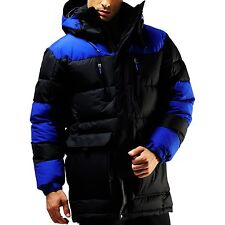 VIP Edition: 70% OFF Mens Winter Down Wellon Hood Parka Jacket Coat Black/Blue L