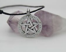 Rune Pentacle Ancient Pendant Pentagram Jewelry WICCA Charm Necklace Norse Pagan