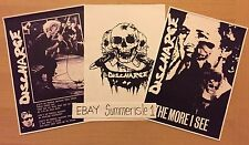 DISCHARGE HARDCORE PUNK ROCK POSTERS D BEAT, CIMEX, DISCLOSE,CRASS ANTISECT KBD