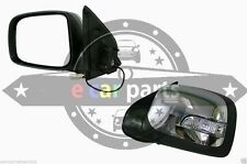 HOLDEN RODEO RA 3/03-9/08 L/H DOOR MIRROR BLACK/CHROME, ELECTRIC LED INDICATOR