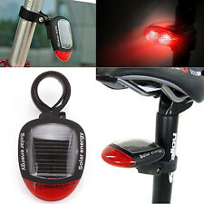 2 LED Bike Bicycle Solar Energy Rechargeable Red Tail Rear Light Flash Light Hot
