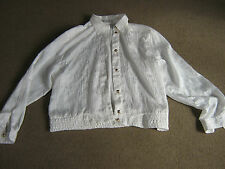 LADIES CREAM BLOUSE-40 INCH CHEST-BY MARIO ROSELLA-APPEARS UNWORN-LONG SLEEVED