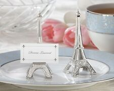 4 Evening in Paris Eiffel Tower Silver Finish Place Card Holders Wedding France