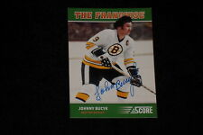 HOF JOHNNY BUCYK 2012-13 PANINI SCORE THE FRANCHISE SIGNED AUTOGRAPHED CARD #OS1