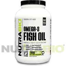 NutraBio Fish Oil (1000mg) 500 Soft Gels High in Omega 3, EPA & DHA