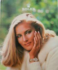 ROLEX RARE USA 1981 GLOSS COLOUR MENS & LADIES WATCH CATALOGUE CATALOG
