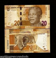 SOUTH AFRICA 20 RAND P139 2014 NOBLE MANDELA ELEPHANT UNC CURRENCY MONEY NOTE
