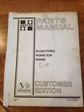 Hyster Lift Truck Parts Manual Electric R30E/EA R35E Forklift