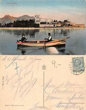 Isola del Garda ANIMATA CON BARCA IN PRIMO PIANO VG. FRANCE (S-L 141)