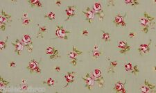 "1.3m/52"" ROUND wipeable wipe clean oilcloth pvc rosebud sage green TABLECLOTH CO"