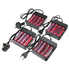 UK/EU/AU/US Plug Charger + 4x 18650 3800mAh 3.7V Li-ion Rechargeable Battery NEW