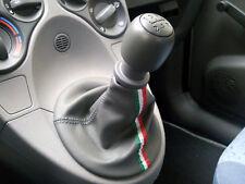 Fiat PANDA SOUFFLET LEVIER DE VITESSE CUIR GRIS + DRAPEAU