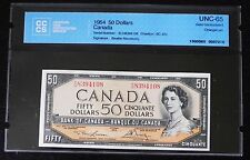 1954 Bank of Canada $50 Note Certified UNC-65 Gem Uncirculated Changeover