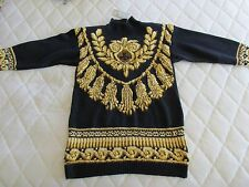 MARISA CHRISTINA COLLECTION Hand Knitted Ribbed Turtleneck Ugly Xmas Sweater NWT