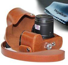 MegaGear Leder Kamera tasche camera bag für Nikon COOLPIX P520 P530 und  P610