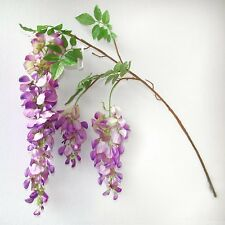 100 cm ARTIFICIALE GLICINE Spray-Viola & Rosa Pianta-Decorativo FAKE FLOWER