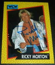 Ricky Morton Signed 1991 WCW Impel Card #97 WWE Autograph Rock n Roll Express