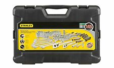 NEW Stanley STMT71653 145-Piece Mechanics Tool Set Black and Decker Chrome Forge