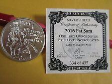2016 1 oz  .999 silver  Uncle Fat Sam BU Oligarchy Series  SBSS