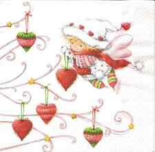 4 Single Paper Napkins for Decoupage Emely Christmas Fairy Winter