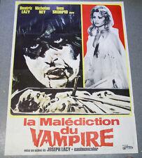 Affiche de cinéma : LA MALÉDICTION DU VAMPIRE de Joseph LACY