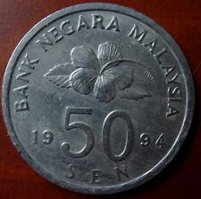 1994 Bunga Raya 50 Cents Coin High Grade #B184