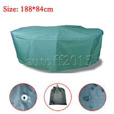 Waterproof Round Table Furniture Cover Outdoor Garden Patio Table Chairs