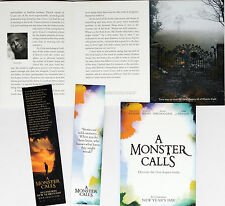 A MONSTER CALLS FOLD-OUT FILM FLYER AND TWO BOOKMARKS - PATRICK NESS