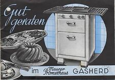 COSSEBAUDE b. Dresden, Katalog 1939, Gasherde u.-kocher, Eisenwerk G. Meurer AG
