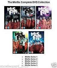 MISFITS COMPLETE SERIES 1 2 3 4 5 DVD Set Brand New and Sealed UK MIS FITS