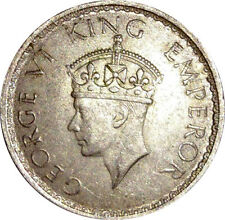BRITISH INDIA 1941 KING GEORGE VI BOMBAY MINT SILVER HALF RUPEE RARE COIN Q53