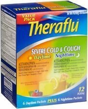 Theraflu Severe Cold & Cough (6-Daytime, 6-Nighttime), 12 Packets Each