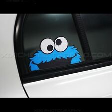 VW Cookie Monster Peeper Car stickers Vinyl decal 3M Reflective 15*8CM