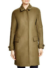 1395 NEW BURBERRY Brit Durringham Coat,6,Wool,Cashmere,Olive,Gold Snap,Plaid,NWT