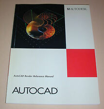 AutoCAD Render Reference Manual Development System Release 12 1992