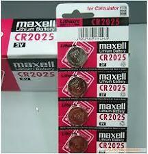 CR2025 Maxell Battery 3V Lithium Button Coin Cell Made In Japan- 5pcX5Srip
