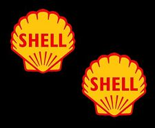 Shell Oils x 2 shell Retro Classic Motorsport F1 Race & Rally Car Stickers