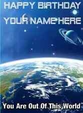A5 Personalised Greeting Card Space Birthday Card PIDS8 planet earth