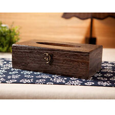 New Rectangle Japanese Wood Tissue Box Holder Cover Home Decor Bathroom Storage