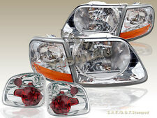97 98 99 00 FORD F-150 SVT Flareside Stepside Headlights & Tail Lights Chrome